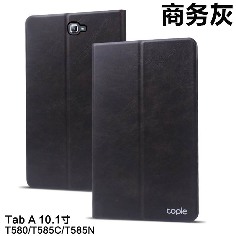 Tople business case with leather pattern and 2-stand for Samsung Galaxy Tab A 10.1 (2016) SM-T580 SM-T585