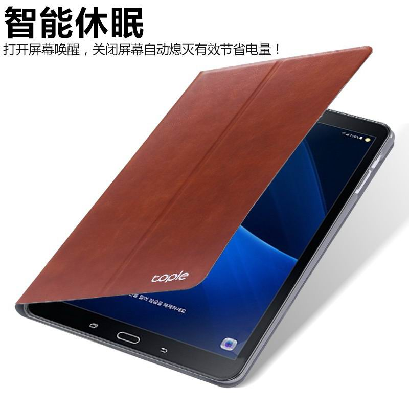 galaxy tab a 10 1 2016 tople business case with leather pattern and 2 stand