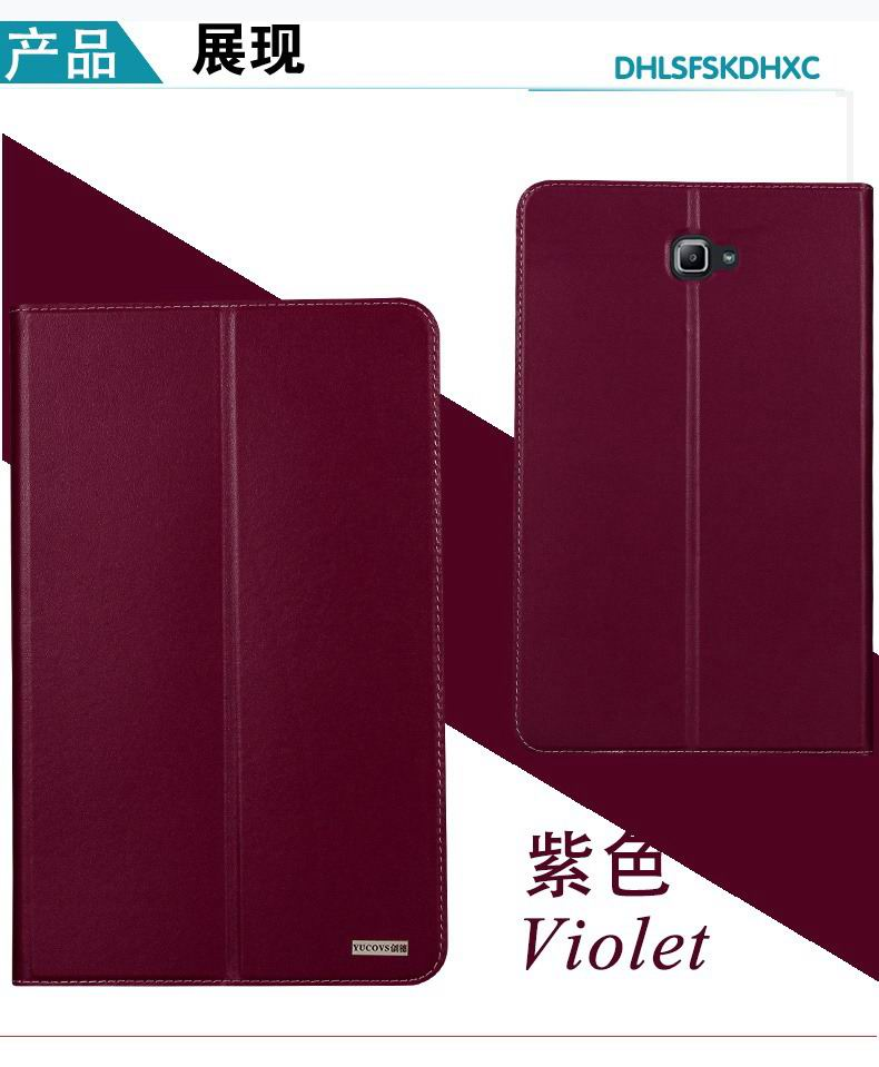 galaxy tab a 10 1 2016 yucovs business case with 2 stand card pockets and border stitching