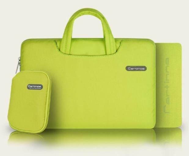 galaxy tab a 10 1 2016 bright bag of quality fabric with handles with an additional sleeve and pockets Lemon yellow: