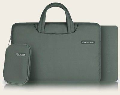 galaxy tab a 10 1 2016 bright bag of quality fabric with handles with an additional sleeve and pockets Elegant gray: