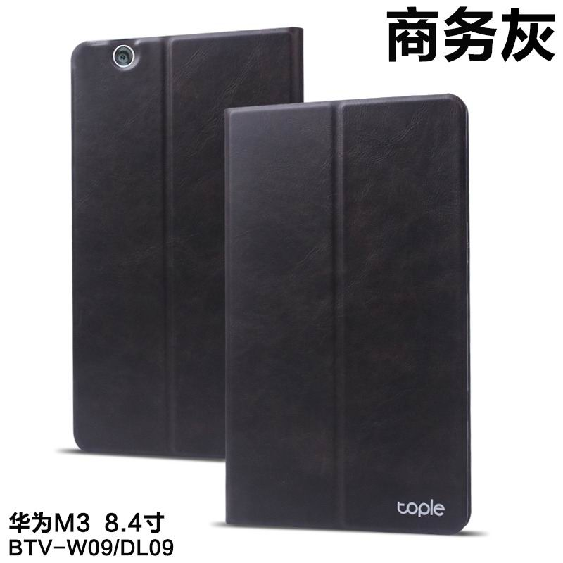 Business case for man of cow leather with 2-stand for Huawei MediaPad M3 BTV-W09