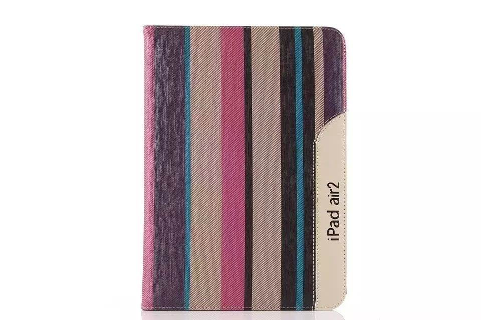 ipad air 2 business case monochromatic or striped with a handle and 2 stand
