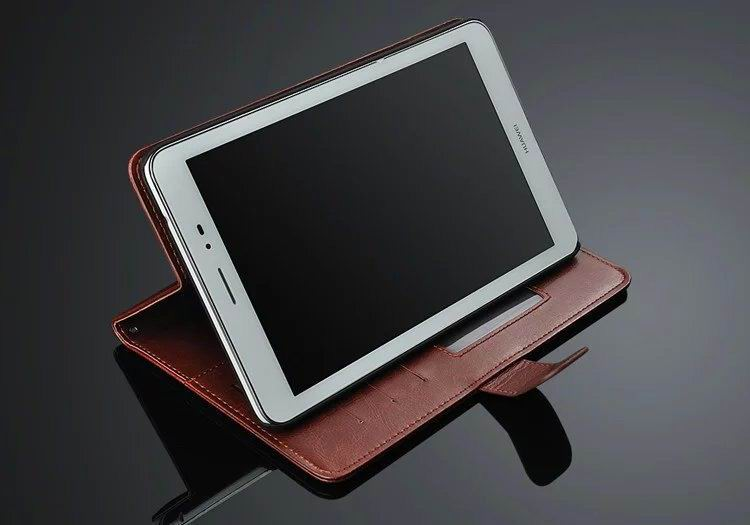 mediapad m3 business case of leatherette with 2 stand and card slots