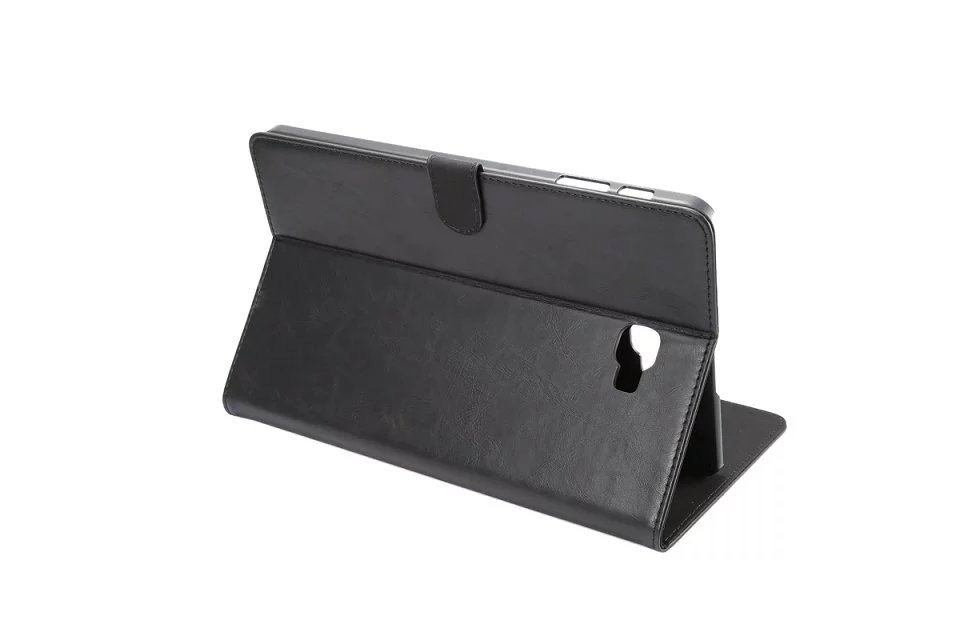galaxy tab a 10 1 2016 business case of leatherette with 2 stand plastic body and card sections Black: