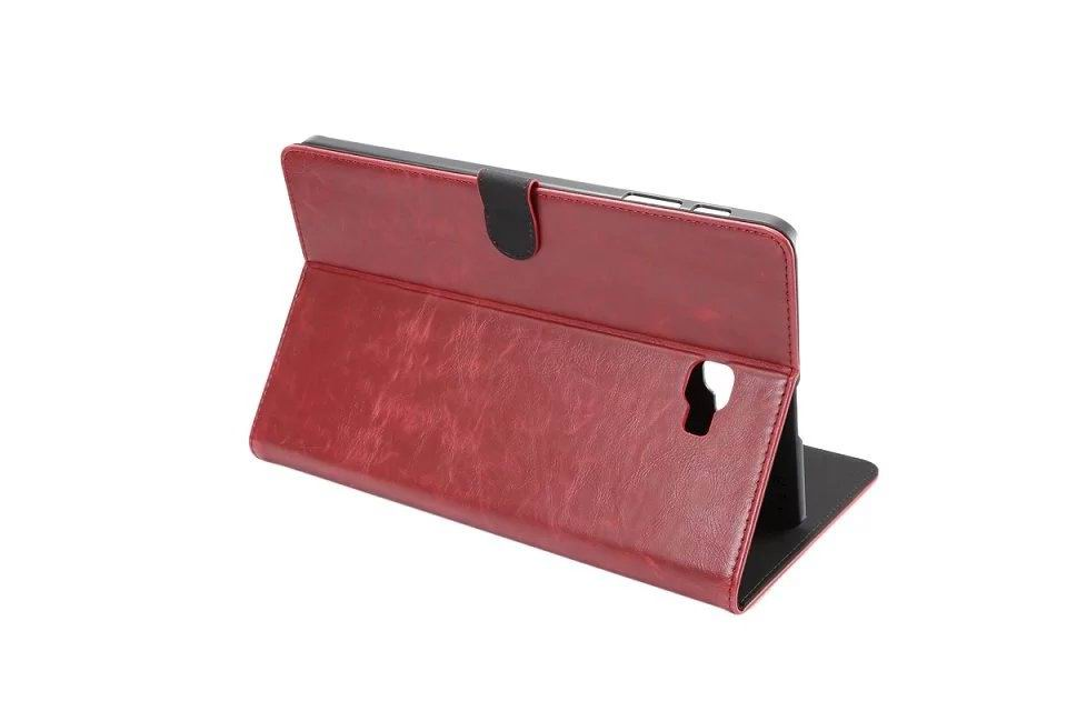 galaxy tab a 10 1 2016 business case of leatherette with 2 stand plastic body and card sections Wine red: