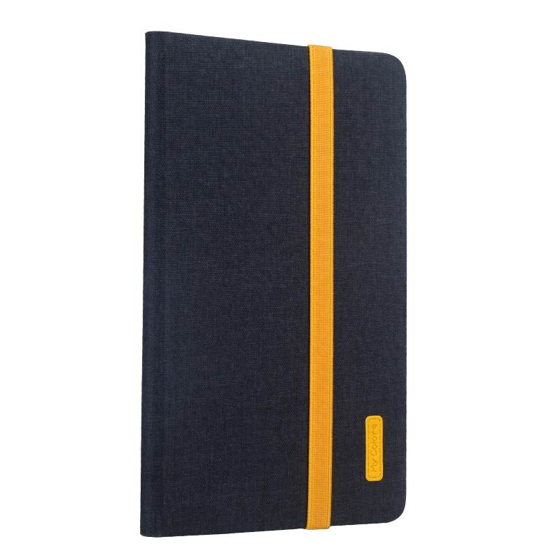 mediapad m3 business case with yellow elements silicone transparent housing and 2 stand Black: