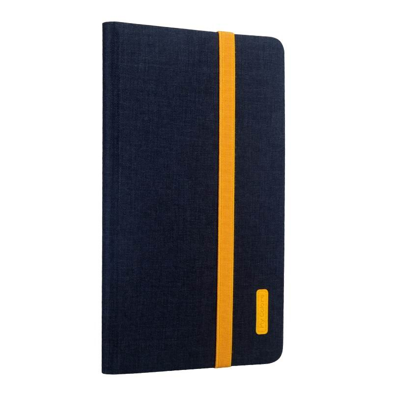 mediapad m3 business case with yellow elements silicone transparent housing and 2 stand Deep sea blue: