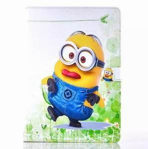 ipad air 2 cartoon case with images of minions with 2 stand and silicone blue housing inside Figure 2: