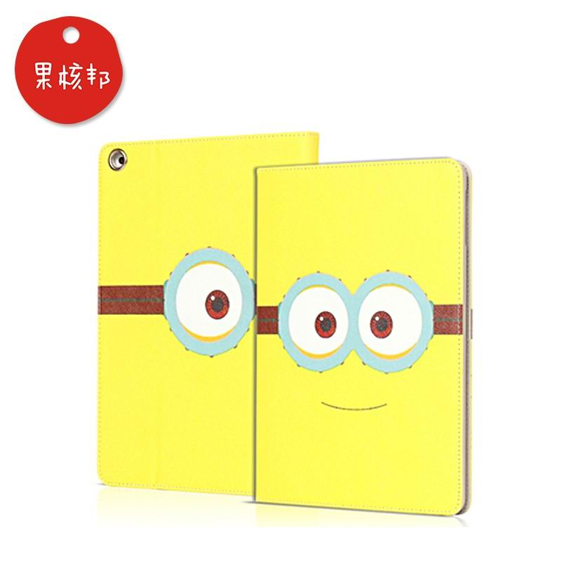 ipad mini 4 cartoon case with pictures of minions 2 stand and plastic housing smiling minion: