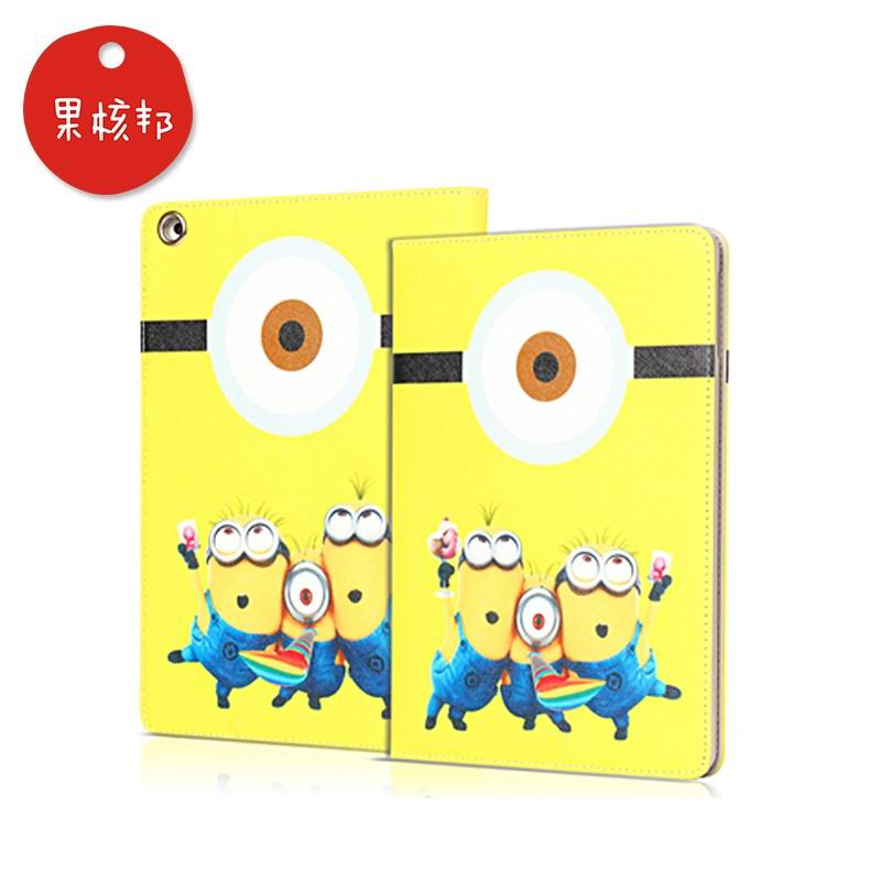 ipad mini 4 cartoon case with pictures of minions 2 stand and plastic housing Eyed minion: