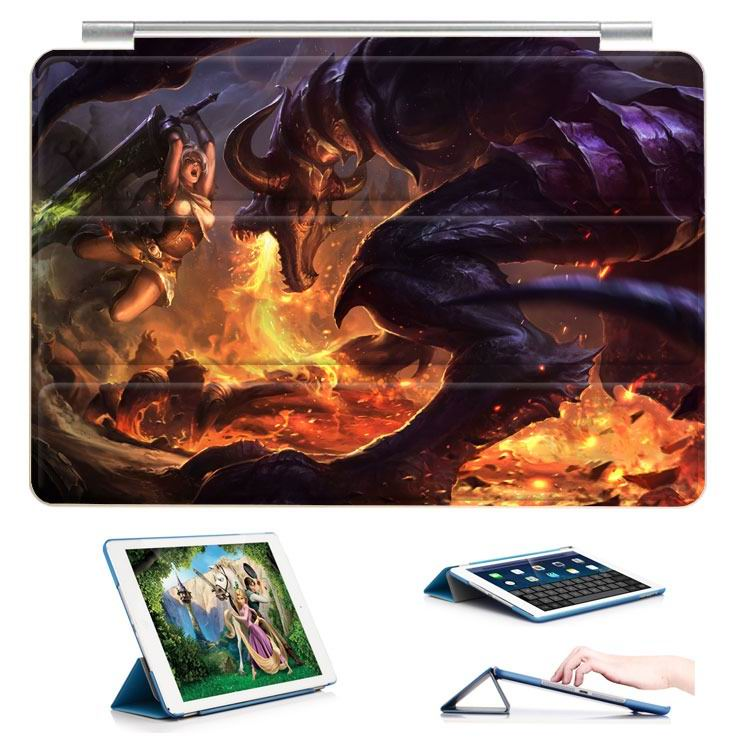 ipad air 2 case with 23 variants of different pictures of league legends and with 3 stand 13:
