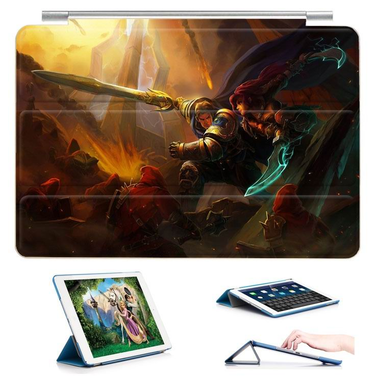 ipad air 2 case with 23 variants of different pictures of league legends and with 3 stand 16: