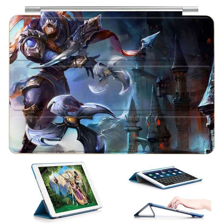 ipad air 2 case with 23 variants of different pictures of league legends and with 3 stand 17: