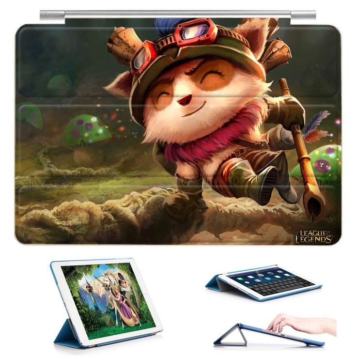 ipad air 2 case with 23 variants of different pictures of league legends and with 3 stand 18: