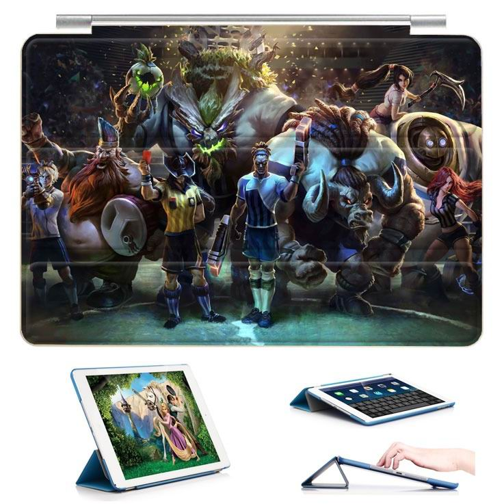 ipad air 2 case with 23 variants of different pictures of league legends and with 3 stand 3:
