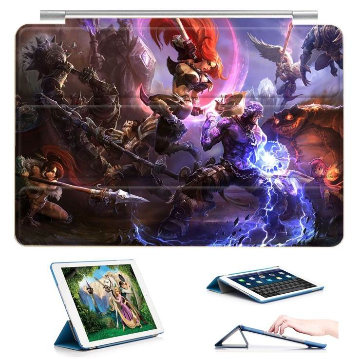 ipad air 2 case with 23 variants of different pictures of league legends and with 3 stand 4: