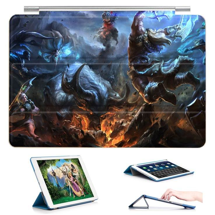 ipad air 2 case with 23 variants of different pictures of league legends and with 3 stand 5: