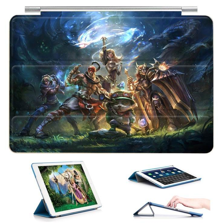 ipad air 2 case with 23 variants of different pictures of league legends and with 3 stand 6: