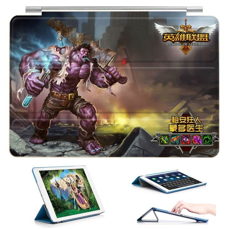 ipad air 2 case with 23 variants of different pictures of league legends and with 3 stand 7: