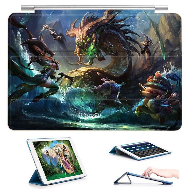 ipad air 2 case with 23 variants of different pictures of league legends and with 3 stand 8:
