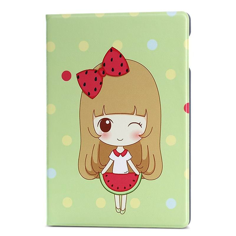ipad air 2 case with a large collection of images 2 stand and plastic housing Watermelon girl: