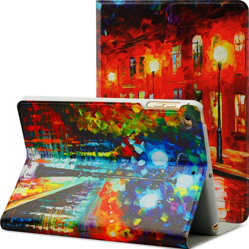ipad air 2 case with a variety of prints and 2 stand rainy night: