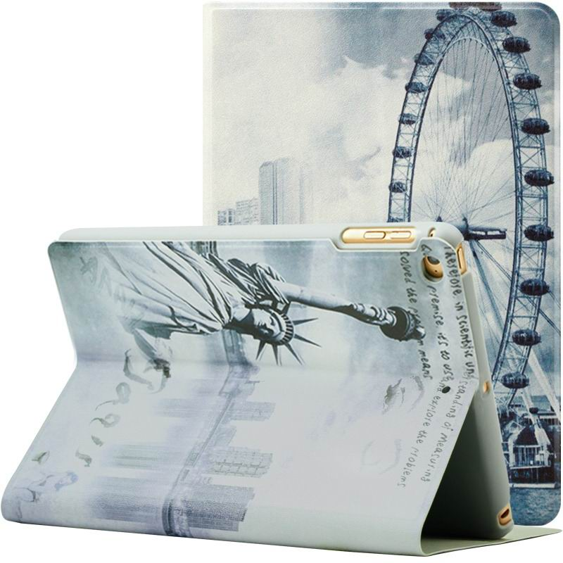 ipad air 2 case with a variety of prints and 2 stand Ferris Wheel: