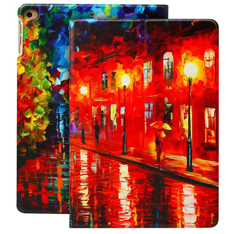 ipad air 2 case with a variety of prints and 2 stand