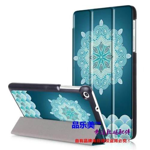 mediapad t1 70 plus case with bright illustrations 3 stand and with black frame Snowflakes: