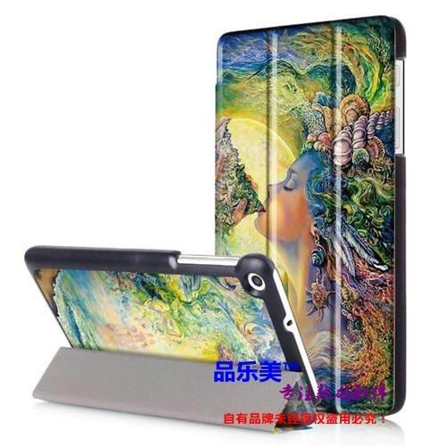 mediapad t1 70 plus case with bright illustrations 3 stand and with black frame The sea of women: