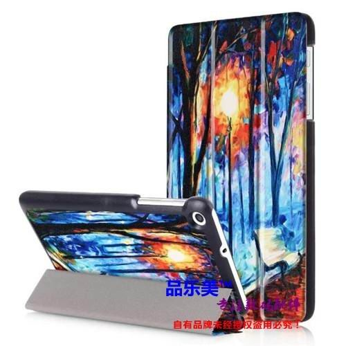 mediapad t1 70 plus case with bright illustrations 3 stand and with black frame Romantic Road: