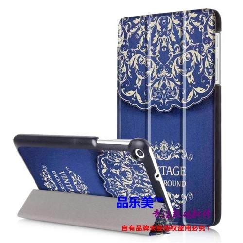 mediapad t1 70 plus case with bright illustrations 3 stand and with black frame Flower vine: