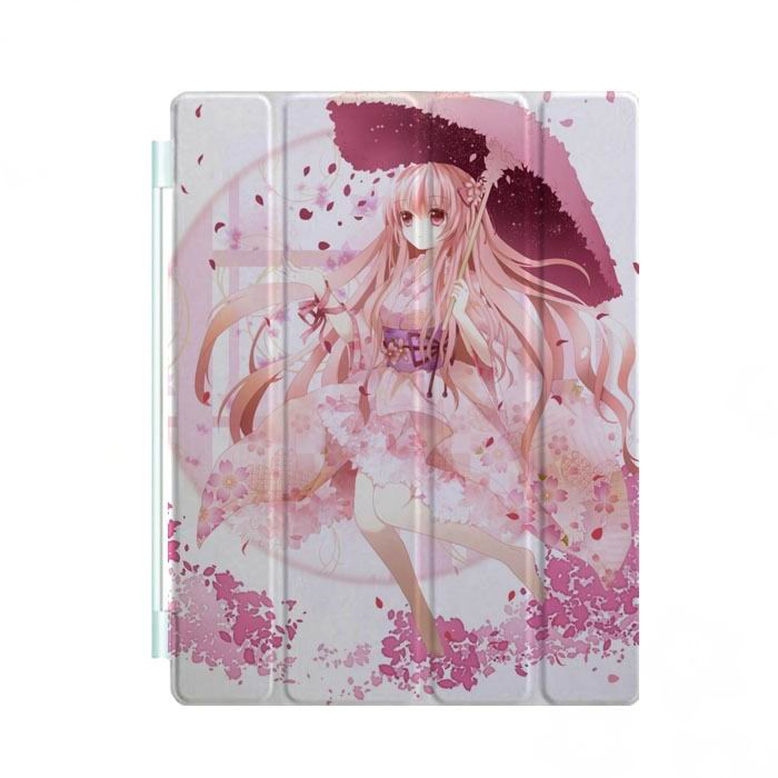 ipad mini 3 case with cartoon anime girls and 3 stand Picture 2: