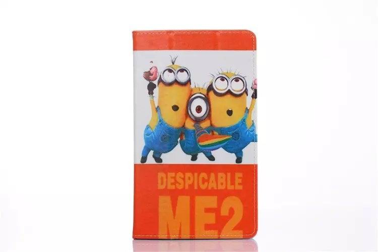 mediapad t1 70 plus case with cartoon heroes paris and with 2 stand minion: