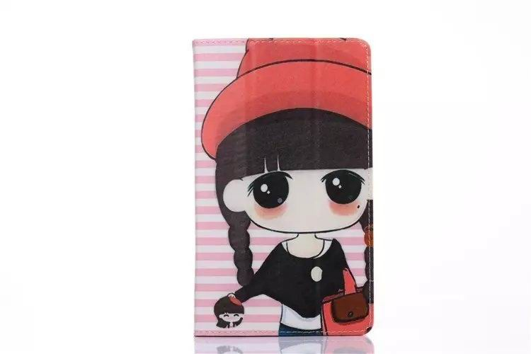 mediapad t1 70 plus case with cartoon heroes paris and with 2 stand Red Hat Creek:
