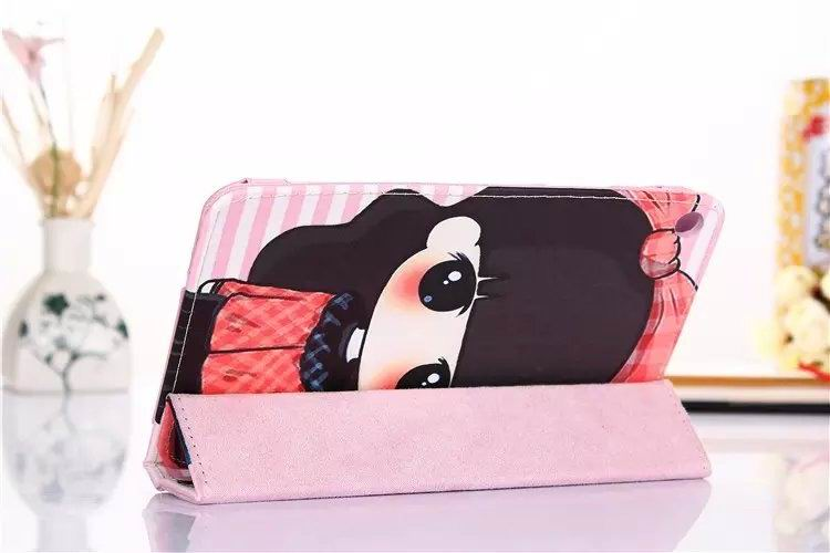 mediapad t1 70 plus case with cartoon heroes paris and with 2 stand