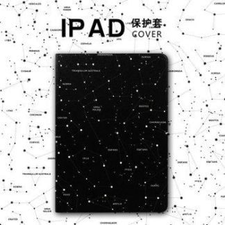 Case with constellation pattern, 2-stand and plastic housing for iPad Mini 1, iPad Mini 2, iPad Mini 3, iPad Mini 4, iPad Air 1, iPad Air 2, iPad Pro 9.7 inch, iPad 2, iPad 3, iPad 4