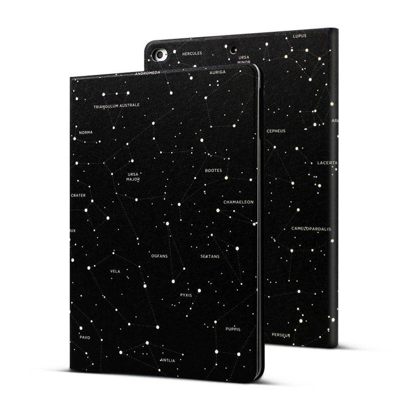 ipad pro 9 inch case with constellation pattern 2 stand and plastic housing 2