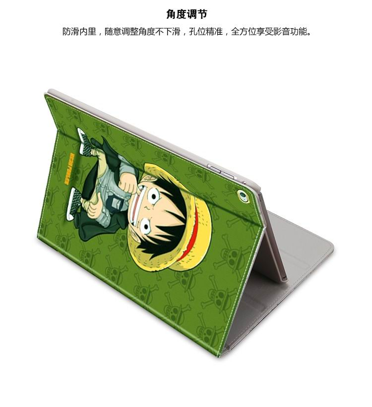 ipad mini 3 case with cute illustrations of cartoon heroes and with 2 stand