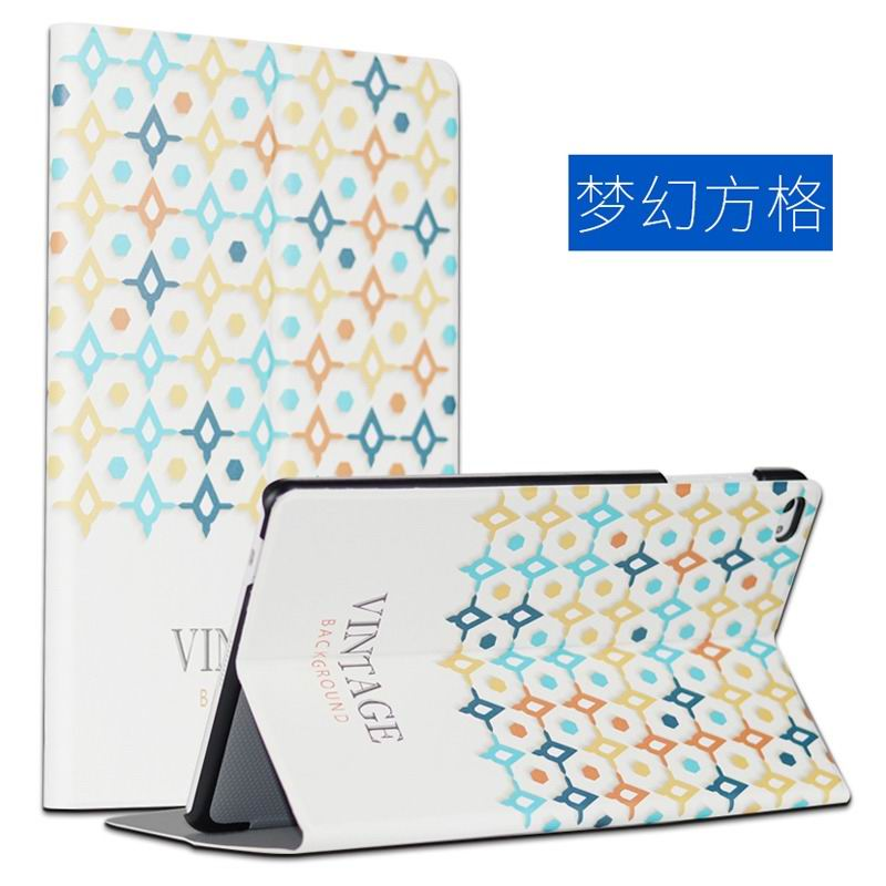 mediapad m2 10 case with cute images and 2 stand Fantasy checkered: