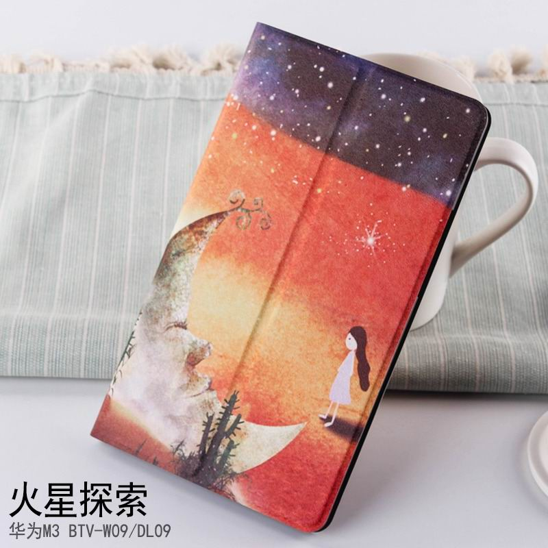 mediapad m3 case with cute pictures and different patterns and with 2 stand Mars exploration: