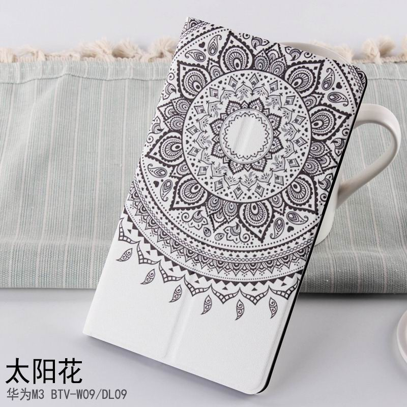 mediapad m3 case with cute pictures and different patterns and with 2 stand sun flower: