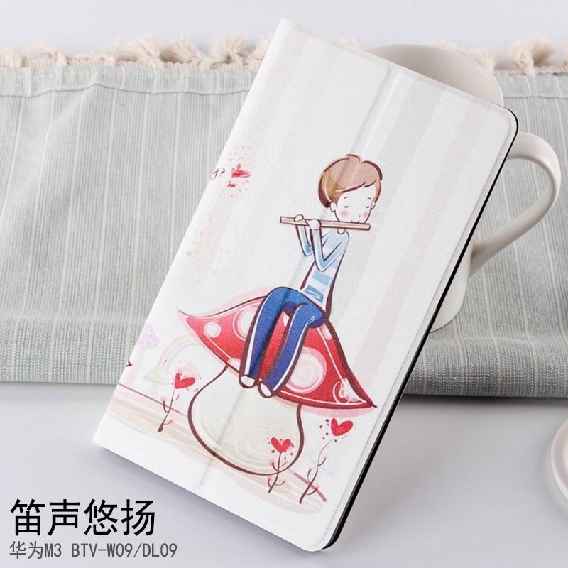 mediapad m3 case with cute pictures and different patterns and with 2 stand flute sound melodious:
