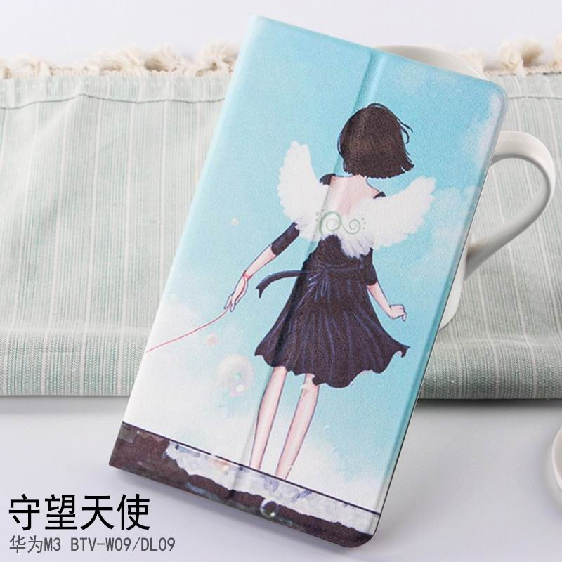 mediapad m3 case with cute pictures and different patterns and with 2 stand Angel: