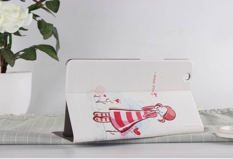 mediapad m3 case with cute pictures and different patterns and with 2 stand