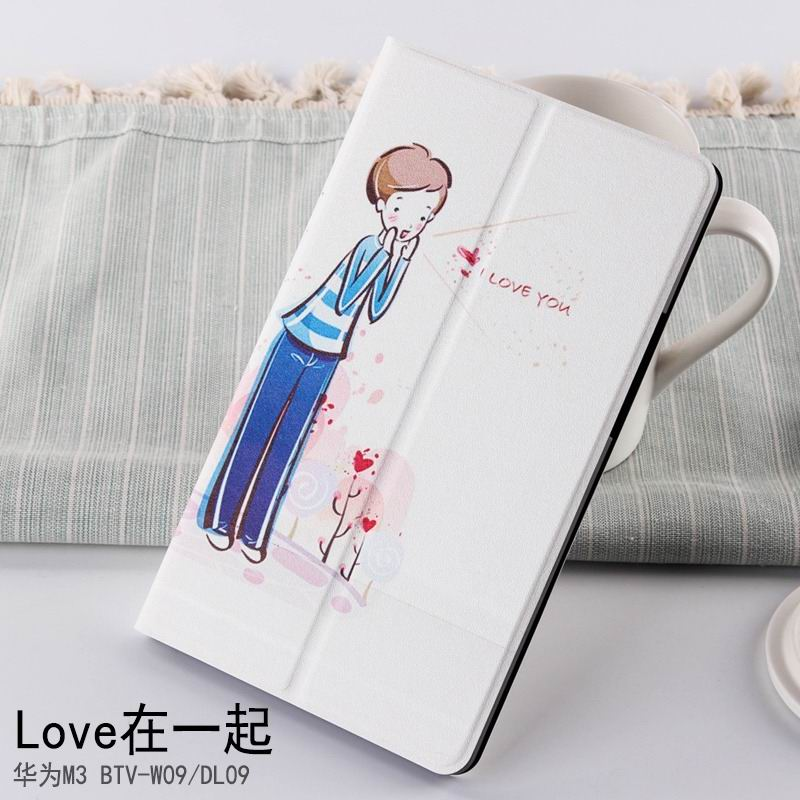 mediapad m3 case with cute pictures and different patterns and with 2 stand together: