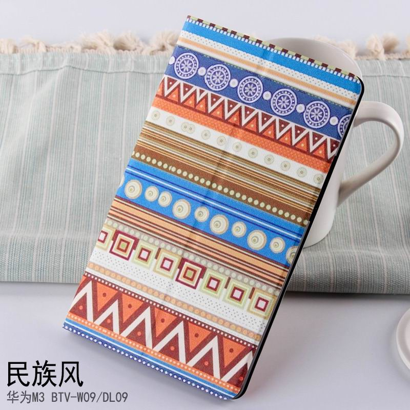 mediapad m3 case with cute pictures and different patterns and with 2 stand National wind: