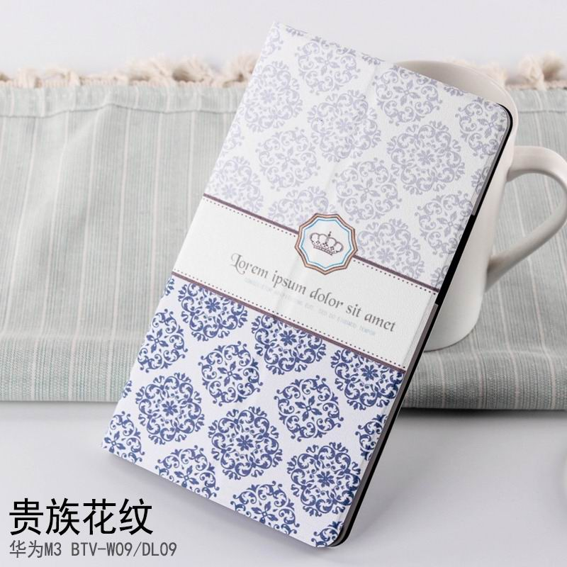 mediapad m3 case with cute pictures and different patterns and with 2 stand aristocratic pattern: