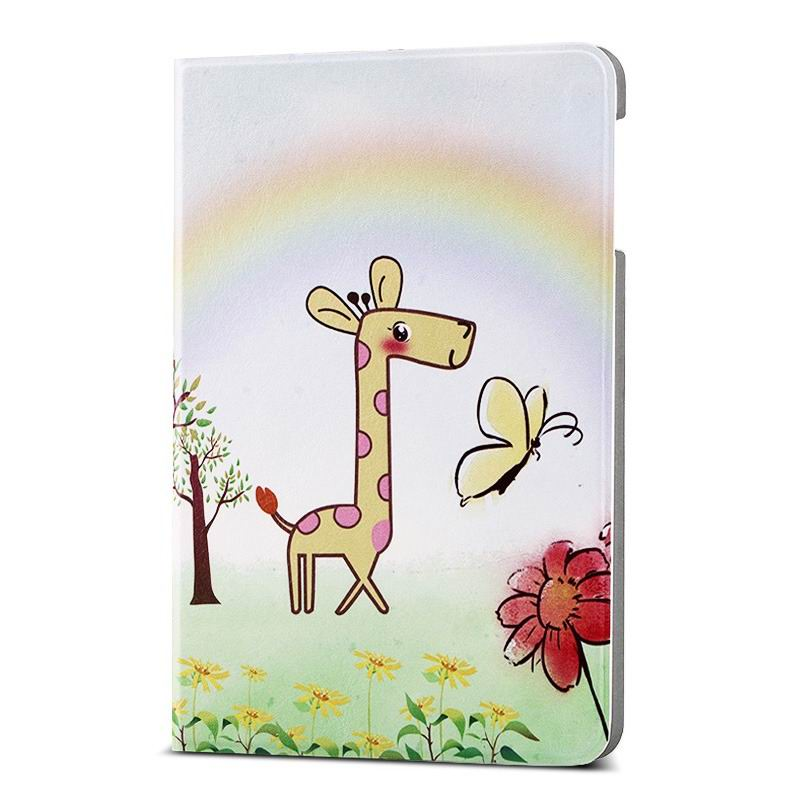 ipad air 2 case with different nice pictures with 2 stand and hard body Rainbow giraffe:
